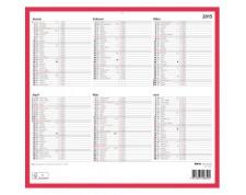 BIELLA Tableau calendrier ½ A/P all. 32x29,7cm