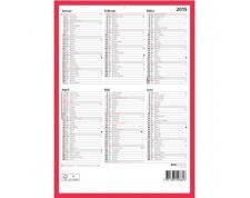 BIELLA Tableau calendrier ½ A/P all. 21x29,7cm