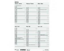 BIELLA Tableau calendrier ½ A/P allemand/francais 21x29,7cm