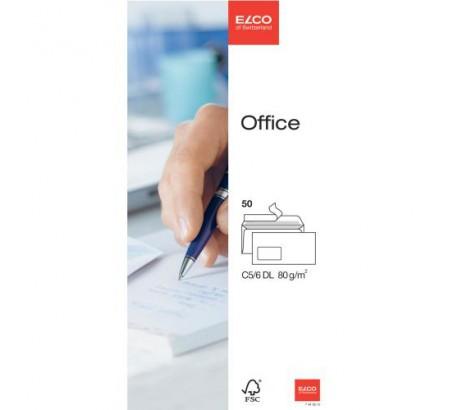 ELCO Office enveloppes blanches fenêtre à gauche C5/6 FSC 80gr. -50 pces-