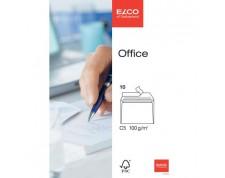 ELCO Office enveloppes blanches sans fenêtre C5 FSC 100gr. -10 pces-