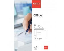 ELCO Office enveloppes blanches fenêtre à gauche C5 FSC 100gr. -25 pces-