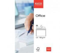 ELCO Office enveloppes blanches sans fenêtre C4 FSC 100gr. -25 pces-