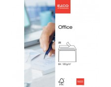 ELCO Office enveloppes blanches sans fenêtre B4 FSC 120gr. -25 pces-