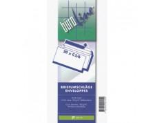 BüroLine Enveloppes blanches C5/6 100 gr. sans fenêtre -Boîte de 500 pces-
