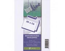 BüroLine Enveloppes blanches C6 100 gr. sans fenêtre -Blister de 50 pces-