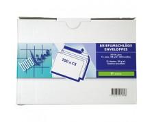 BüroLine Enveloppes blanches C5 100 gr. sans fenêtre -Boîte de 100 pces-