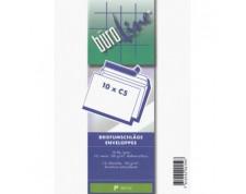 Büroline Enveloppes C5 sans fenêtre blanches 100gr. -blister de 10 pces-