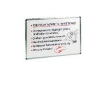 NICEDAY Tableau blanc magnétique cadre alu 60 x 45 cm