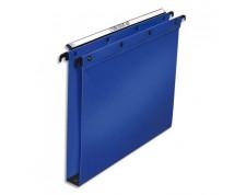 ELBA OBLIQUE AZ Pack 10 Dossiers suspendus polypro fun 330, fond 30mm bleu pour tiroir