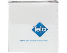 TELA Quick Serviettes de table blanches 33x33cm pliage 1/8-Pack de 300 pièces-