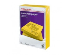 Papier couleur A4 80 g/mq jaune intense -Ramette de 500 feuilles-