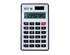 ATIVA Calculatrice de table AT-810 10 chiffres argent