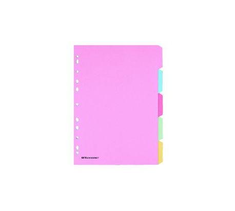 OD Intercalaires inscriptibles  Papier Manila 175 g/m² A4 5 intercalaires Assortiment
