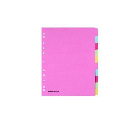 OD Intercalaires colorés  en Carton 175 g/m² A4 extra large Assortiment 11 trous 10
