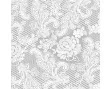 PPD Serviettes de table 33x33cm Silver White -Paquet de 20 pièces-