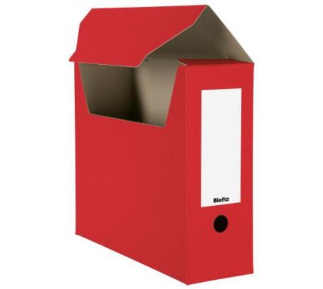 BIELLA Boîte archive A4 rouge