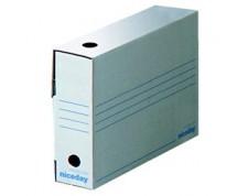 NICEDAY Boîtes d'archivage 10 x 24,5 x 33,5 cm blanc 10 pièces